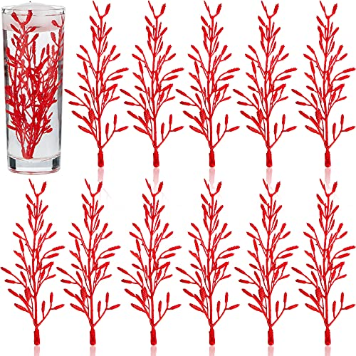 50 Pieces Artificial Flowers for Floating Candles Centerpiece 6 Inch Flower Filler Vase Fillers Filling in Floating Candles for Wedding Dinning Table Party Home (Red)