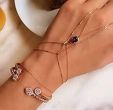 Bar Hand Chain Slave Bracelet 925 Sterling Silver