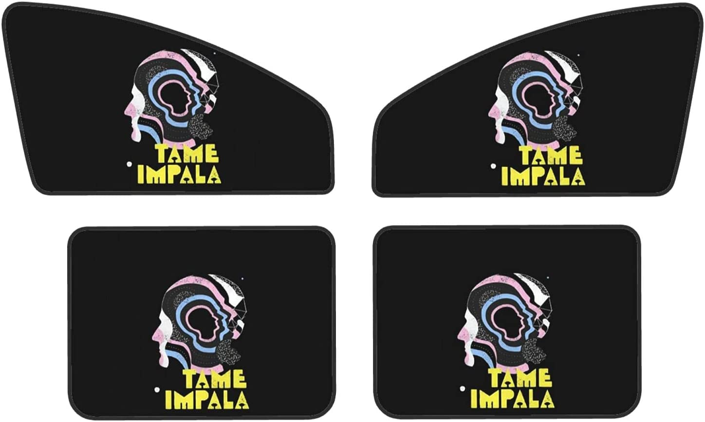 Tame Impala Logo Excellence Front and Rear 4-Piece Privacy Magnetic Sun Luxury goods Sha