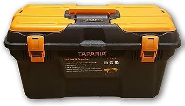 Taparia PTB-19 Plastic Tool Box with Organizer (Multicolour)