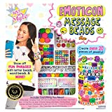 Just My Style Emoticon Message Beads by Horizon Group,DIY 20+ Jewelry Projects Using Symbols & Emoticons.Kit includes Word Beads,Alphabet Beads,Accent Beads,Star & Heart Shaped Beads,ABC Beads & More