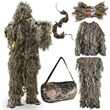 FUNPENY Ghillie Suits for Men, Outdoor Camo Hunting Ghillie Suit Costume Clothings (Desert Yellow)