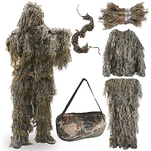Best ghillie suit - FUNPENY Ghillie Suits for Men, Outdoor Camo Hunting Ghillie Suit Costume Clothings (Desert Yellow)