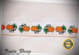 10 Yards Fall Pumpkin Pumpkins DIY Hair Ties Foldover Elastic FOE Headband 5/8