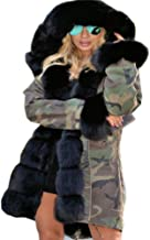 Roiii Women Thicken Warm Winter Coat Hood Parka Overcoat Long Jacket Outwear