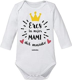 "Body Bebé Mamá""Eres La Mejor Mami Del Mundo"" (3 MESES, MANGA LARGA)"