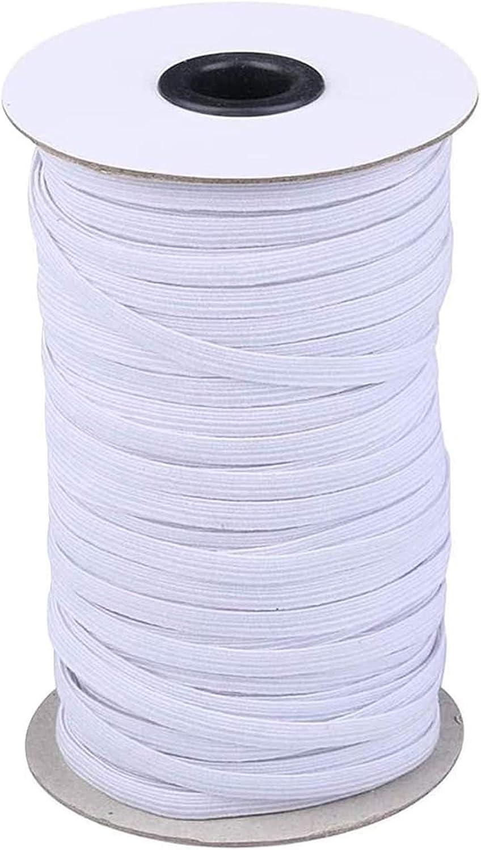 144Yards Length 1/4 Inch Width Elastic Band, Braided Stretch Str