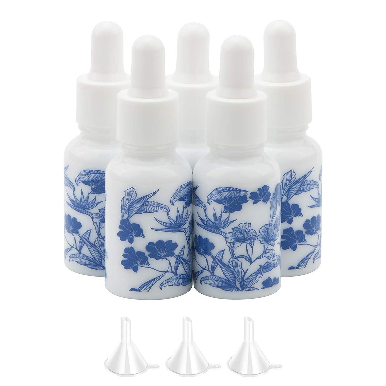NewZoll 5Pcs Max 53% OFF 15ml Max 54% OFF 1 2oz Ceramic Bottles Vials Dropper Perfume