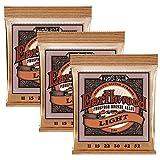 Ernie Ball Earthwood Light Phosphor Bronze Cordes pour Guitare Acoustique 3 Piles - Jauge 11-52