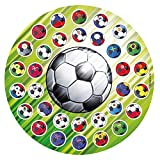 Dekora- Disco Comestible de Balon de Futbol para Decoración de Tartas de Cumpleaños-16 cm (231292)