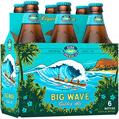 6 Flaschen Kona Big Wave a 0,355l aus Hawaii Ale 4,4% Vol. inkl. 1,50 EUR Pfand