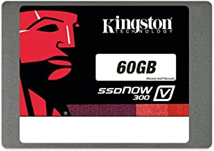 Kingston Digital 60GB SSDNow V300 SATA 3 2.5 (7mm height) Solid State Drive (SV300S37A/60G) (Certified Refurbished)