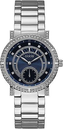 Guess Reloj Analógico para Mujer de Cuarzo con Correa en Acero Inoxidable W1006L1