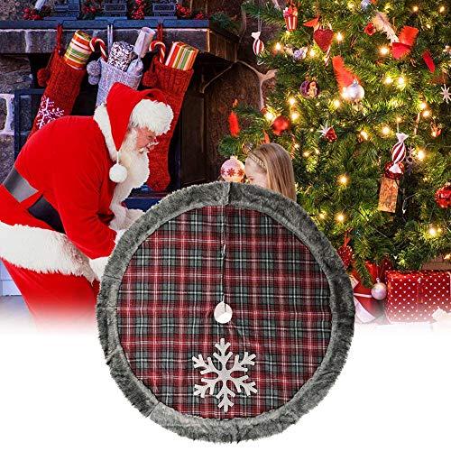 Ahagut Weihnachtsbaum Rock Schneeflocke Gedruckt Sackleinen Baum Röcke Weihnachtsdeko Verkleidet den Baumständer und bietet viel Platz