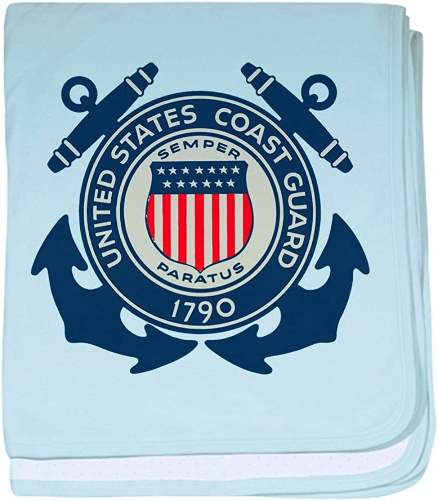 Royal Lion Baby Blanket United States US Coast Guard Seal