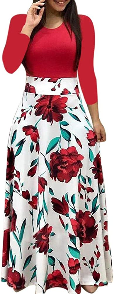 RUIVE Women's Night Party Cocktail Knee-Length Sundress With Pockets