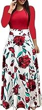 kaifongfu Long Maxi Dress for Women Floral Boho Print Casual Ladies Dress