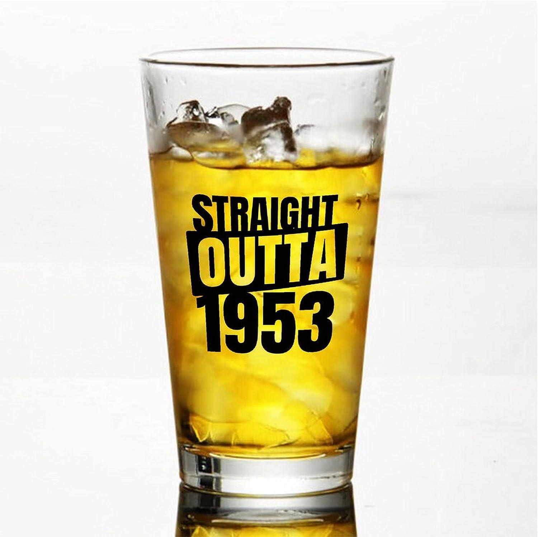 Straight Outta 1953 - Vasos de cerveza personalizados, vaso de cerveza de pinta de 16 onzas para día de la independencia, papá, mamá, marido, esposa, padrino.