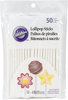 "Wilton Lollipop Sticks 4"" 50/Pkg-"