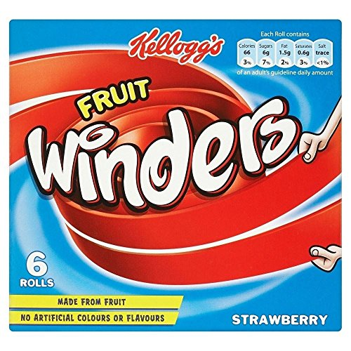 Kelloggs Fruit Winders Strawberry (6x17g) - Packung mit 2