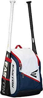 EASTON GAME READY YOUTH Bat & Equipment Backpack Bag, 2021, Baseball Softball, 2 Bat Pockets or for Water Bottles, Vented ...