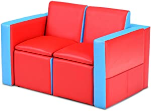 KOVALENTHOR Multifunctional Kids Sofa. Multi-Colored Children's Table. Game Table. Children's Furniture for Children's Kitchen. Dining Room and Living Room