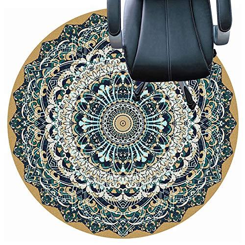 cojín de la silla redonda Tapetes Para Sillas Para Pisos Alfombrados, Tapetes Para Sillas De Oficina, Tapetes Para Protección De Pisos De Madera Dura Para Sillas Rodant(Size:100cm(39in),Color:re)