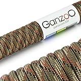 Ganzoo Paracord 550 Corde pour Bracelet Laisse Collier Nylon Corde 30M Camouflage