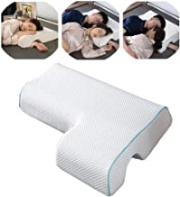 Couples Pillow,Breathable Memory Foam Pillow for Arm Rest, Arched Cuddle Anti-Hand Pressure Pillow for Couples Sleeping, ...