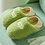 Sonze Zapatillas de Invitados,Bolsa de Maternidad con Pantuflas de algodón, los Zapatos de confinamiento se Pueden Usar afuera después del Parto-Green_36-37,Zapatillas de Invitados