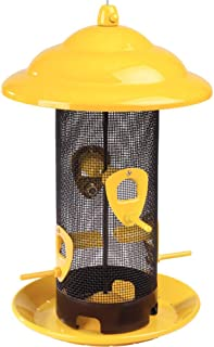 Stokes Select Sedona Screen Bird Feeder, 12-1/2 Inches, 4 Ports, Yellow