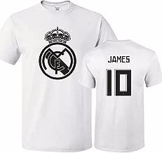Tcamp Real Madrid Shirt James Rodriguez #10 Jersey Men T-Shirt