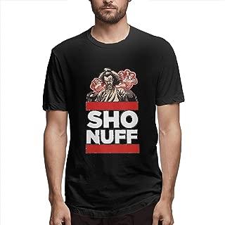 Mens Classic Crew Neck T-Shirt Sho Nuff The Last Dragon Stylish Cotton Short Sleeves Top Black