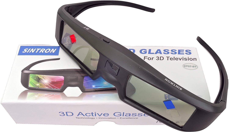 Sintron ST07-BT - Gafas de Obturador 3D Recargables para televisores 3D RF, Panasonic, Samsung 3D TV, proyector Epson 3D, Compatible con TDG-BT500A TDG-BT400A TY-ER3D5MA TY-ER3D4MA: Amazon.es: Electrónica