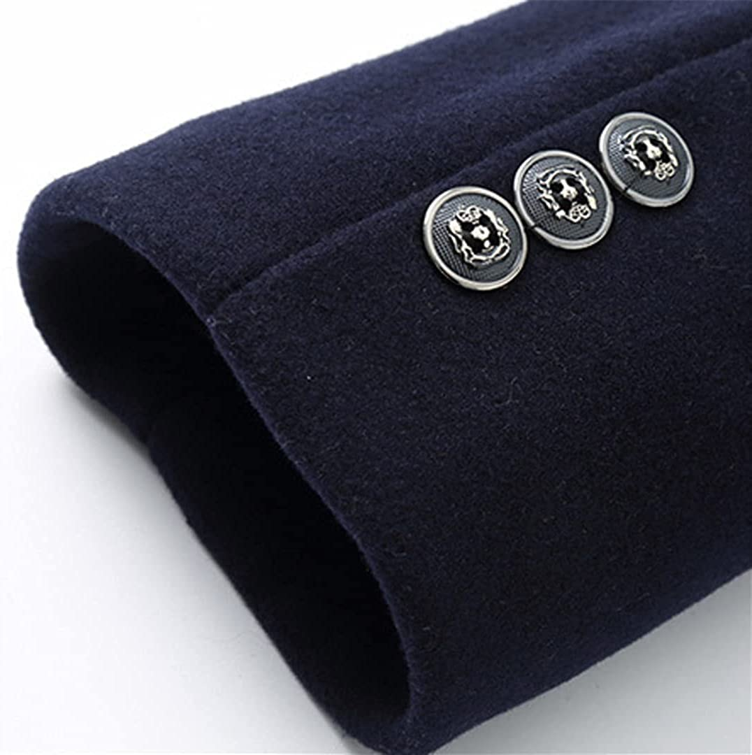 Men's Winter Warm Wool Blend Coat Men Thick Overcoats Topcoat Long Single Breasted Trench Jackets And Coats