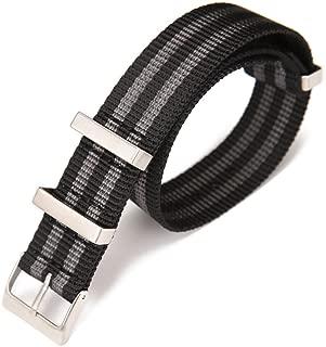 Carty Mens 22mm 20mm NATO Strap Nylon Watch Bands - High-Density Ballistic Nylon Straps