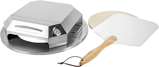 """only fire Universal Stainless Steel Pizza Oven Kit for Most 22"""" Charcoal Kettle Grilll - Professional Pizza Baking Tools I..."""