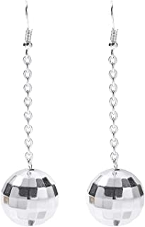 Disco Ball Earrings for Women - 70's Halloween Earrings Women's Costume Accessories - Choice of Color