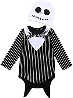 Christmas Merry Wishes One Piece Outfits Baby Halloween Rompers with Bow + Hat Kids Long Sleeve Playsuit Jumpsuits Cotton ...
