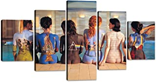 Yatsen Bridge Modern Sexy Women Canvas Wall Art 5 Piece Pink Floyd Back Catalogue Painting Prints on Posters Artwork Stretched Ready to Hang for Bedroom Bathroom Decoration - 60''W x 32''H