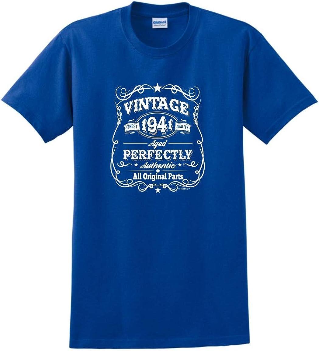 80th cadeaux d/'anniversaire présente année 1939 Homme Ringer Vintage T-shirt mûri à