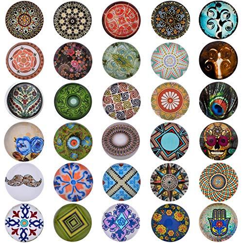 30 Click-Button Set Knöpfe 18 mm für Halskette Armband und Ring Ethno-Boho Motive