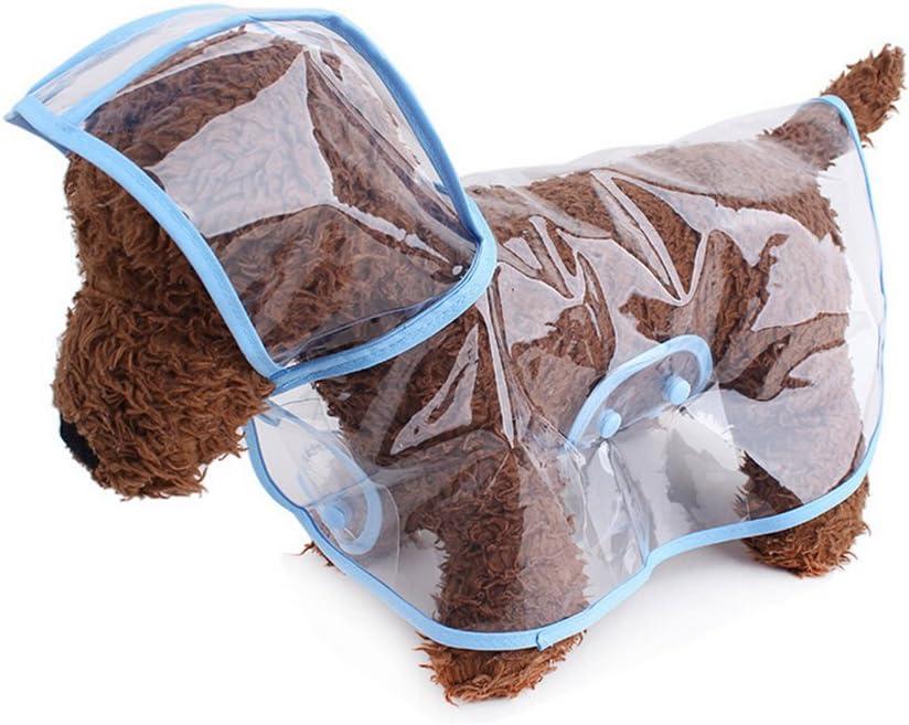 selmai Kleine Hunde Regenmantel mit Kapuze Mesh gef/üttert Weich Wasserdicht Leicht Puppy Pet Regen Poncho Jacke Jumpsuit mit Streifen