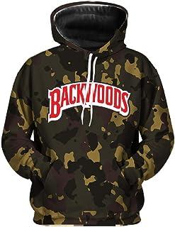 DAHUZI Backwoods Printed Sportswear Mens Hip-hop Hoodie Sweater Pants Set