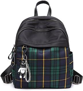 Mn&Sue Dual Use Tartan Backpack Pursefor Women Schoolbag Travel Daypack Rucksack