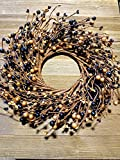 """MerdCraft Black And Old Gold Combo Wreath 13"""" Perfect For any Time Of Year"""