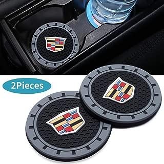 3Inc Tough Car Logo Vehicle Travel Auto Cup Holder Insert Coaster Can for Cadillac Escalade, CTS,SRX, BLS, ATS,STS, XTS, SXT,etc All Models