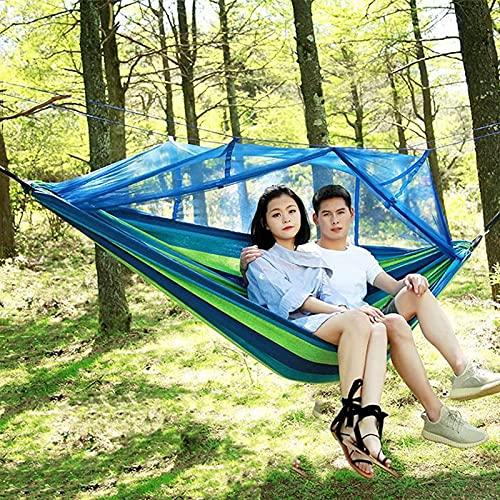 HYLX Hamaca al aire libre, columpio de camping espesar sillas colgantes para adultos y niños dormitorio de estudiantes, evitar que entren insectos