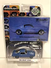 1966 Ford Mustang Shelby GT350 Blue The Best Dreams are Partly Black & White BFGoodrich Vintage Ad Cars Hobby Exclusive 1/64 Diecast Model Car by Greenlight 29975