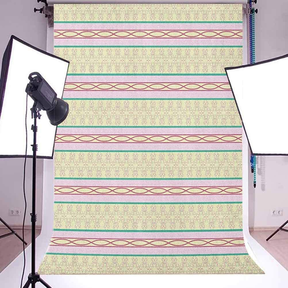 8x12 FT Geometric Vinyl Photography Backdrop,Curlicues with Horizontal Line Pattern Swirled and Curved Lines Abstract Design Background for Baby Birthday Party Wedding Studio Props Photography